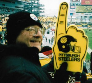 A photo of author Tom Rinkes, go Pittsburgh Steelers!